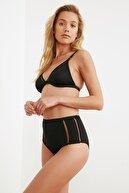 TRENDYOLMİLLA Siyah Kedi Merdivenli Yüksek Bel Bikini Altı TBESS20BA0247