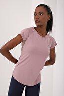 Tommy Life Gül Kurusu Kadın Sırt Pencereli Kısa Kol Standart Kalıp O Yaka T-shirt - 97101