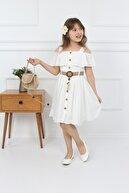 şımarık kids Kız Çocuk Çantalı Boydan Düğmeli Elbise