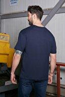 Sateen Men Erkek Lacivert Baskılı T-Shirt