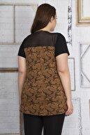 Şans Kadın Kahve Roba Kısmı File Detaylı Bluz 65N22668