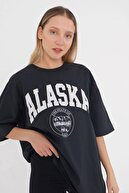 Addax Baskılı T-shirt P9525 - N9