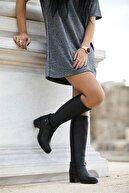 Venüs Kadın Deri Çizme 1950912 - Siyah