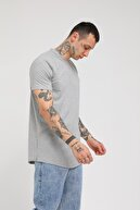 Rocqerx Erkek Gri Düz Tshirt