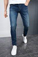 Sateen Men Erkek Lacivert Slimfit Denim Pantolon