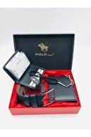 Mevsim Deri Polo Ponit ® Erkek Cüzdan Kemer Kartlık Tespih 4'lü Set