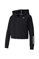 Puma Kadın Siyah Rtg Pamuklu Fermuarlı Sweatshirt 58147901