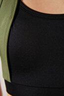 TRENDYOLMİLLA Siyah Renk Bloklu Destekli Spor Sütyeni TWOAW21SS0011