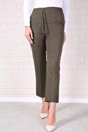 Essah Moda Kadın Haki Lastikli Havuç Pantolon - Me000321