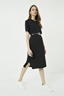Vis a Vis Kadın Siyah Midi Elbise
