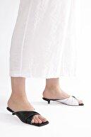 Marjin Kadın Beyaz Topuklu Terlik Akez