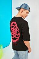 TRENDYOL MAN Siyah Erkek Oversize T-Shirt TMNSS21TS1062