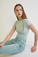 TRENDYOLMİLLA Mint Dantel Detaylı Örme Bluz TWOSS20BZ1532
