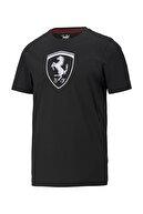 Puma FERRARI RACE BIG SHIELD T Siyah Erkek T-Shirt 101085593