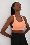 Tommy Life Kadın Yavruağzı Çapraz Sırt Detaylı Slim Fit U Yaka Spor Büstiyer - 97121