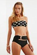 TRENDYOLMİLLA Siyah Tokalı Yüksek Bel Bikini Altı TBESS20BA0251
