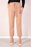 Essah Moda Kadın Vizon Lastikli Havuç Pantolon - Me000322
