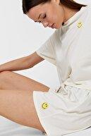 Stradivarius Kadın Smiley ® Desenli Pijama Şort