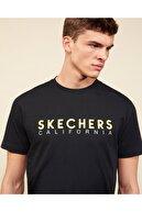 Skechers Graphic Tee M Crew Neck T-Shirt Erkek Siyah Tshirt
