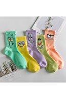 BGK Unisex Desenli Kolej Çorap 5'li (extra Soft)
