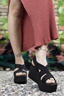 Riccon Kadın  Siyah Yüksek Topuklu Sandalet 0012460