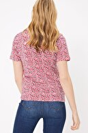 Marks & Spencer Kadın Pembe Saf Pamuklu Çiçek Desenli T-Shirt T41008939