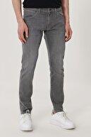 Wrangler Bryson Erkek Açık Gri Skinny Normal Bel Çok Dar Paça Esnek Jean Pantolon