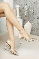 meyra'nın ayakkabıları Şeffaf Taşlı Topuklu Ayakkabı
