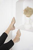 Straswans Kadın Ten Rengi Selinda Deri Topuklu Ayakkabı
