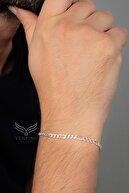 Ventino Silver Erkek Figaro Gümüş Zincir Bileklik Veb-5022