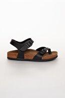 meyra'nın ayakkabıları Siyah Çift Toka Sandalet