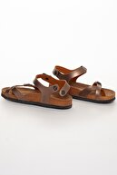 meyra'nın ayakkabıları Kadın Bronz Çift Toka Sandalet