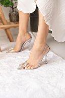 SHOEBELLAS Emma Hologram Kadın Topuklu Ayakkabı