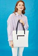 US Polo Assn Beyaz-lacıvert Kadın Omuz Çantası Us8212