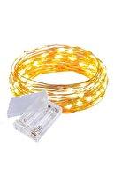 Pudra Peri Led Işık 5 Metre (sarı) Pilli