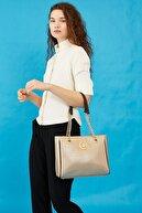 US Polo Assn Kadın Omuz Çantası Us8706 Altın-Kahve