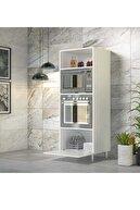 Modilayn Papatya Ankastre Mikrodalga MiniFırın Banyo Mutfak Kitaplık Çok Amaçlı Dolap