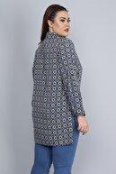 Şans Kadın Lacivert Hakim Yakalı Ön Düğmeli Gömlek 65N22797