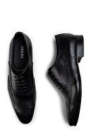 Deery Erkek Siyah Hakiki Deri Klasik Ayakkabı