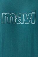 Mavi Logo Baskılı Yeşil Tişört 065781-33505