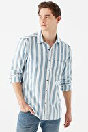 Mavi Çizgili Gömlek 021802-33101