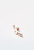 MorMajor Silver Tekli Ithal Minicik Manolya Flower Gümüş Küpe