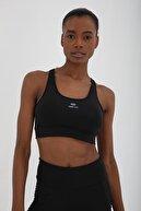 Tommy Life Siyah Kadın Çapraz Sırt Detaylı Slim Fit Büstiyer