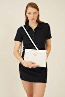 US Polo Assn Beyaz Kadın Omuz Çantası Us8093