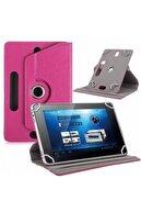 Alcatel 1t 7 7'' Kılıf Universal Tablet Kılıfı 360 Derece Dönerli Standlı Kapaklı