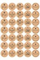 swissoft 70 Adet Thank You-hand Made Etiket, 10 Farklı Tasarım Stıcker