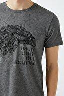 Koton Erkek Antrasit T-Shirt 1YAM11457CK