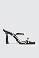 Trendyol Shoes Siyah Taşlı Kadın Terlik TAKSS21TE0045