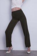 Jument Kadın Haki Beli Lastikli Bol-rahat Kesim Ön-arka Dikişli Pantolon