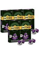 Jacobs Lungo Intenso 8 Kapsül Kahve 10 Adet  5 Paket